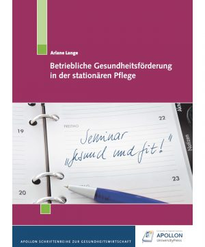 """Buchcover """"Betriebliche Gesundheitsförderung in der stationären Pflege"""" von Ariane Lange"""