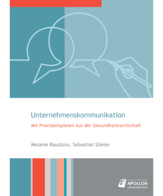 """Buchcover """"Studienbuch Unternehmenskommunikation – Mit Praxisbeispielen aus der Gesundheitswirtschaft"""" von Melanie Raudszus und Dr. Sebastian Stieler"""