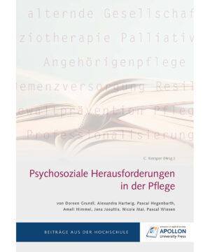 """Buchcover """"Psychosoziale Herausforderungen in der Pflege"""""""