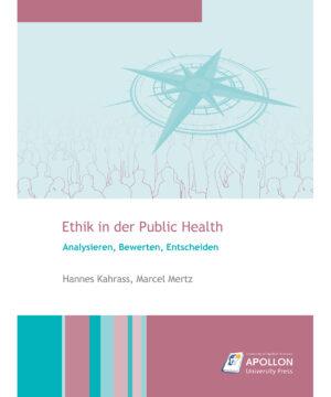"""Buchcover zum Studienbuch """"Ethik in der Public Health"""""""